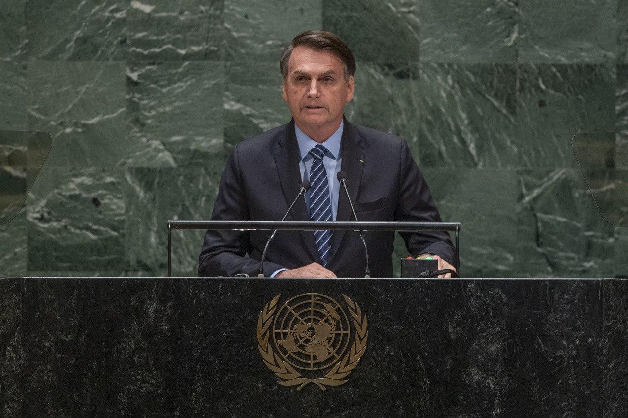 O presidente Jair Bolsonaro discursou na abertura da Assembleia Geral da ONU, em Nova York.