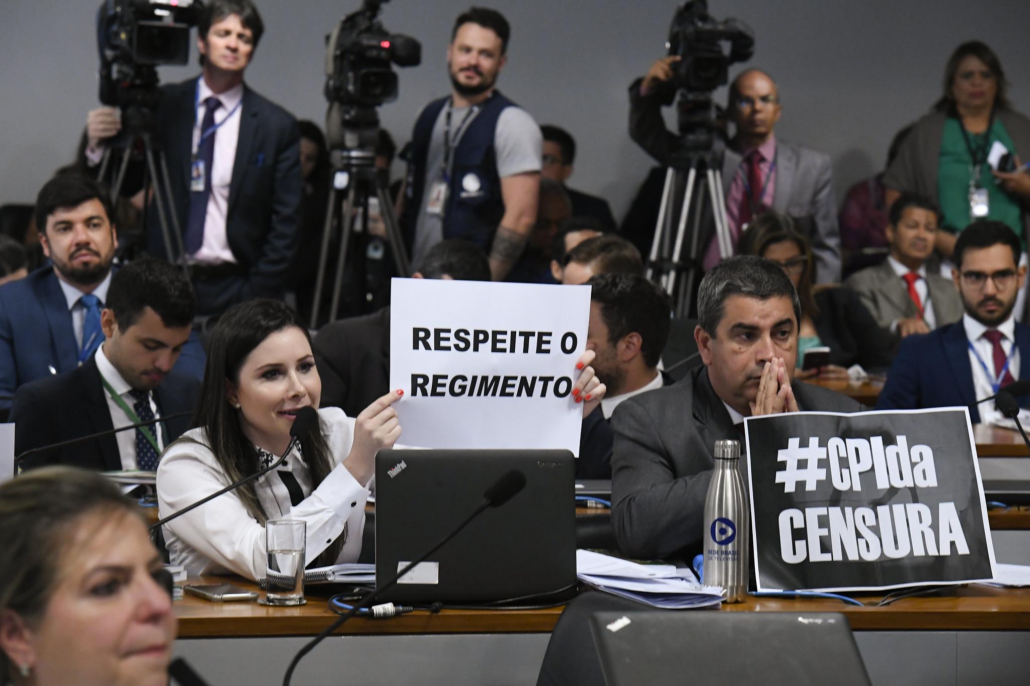 Reunião da CPMI (Comissão Parlamentar Mista de Inquérito) das Fake News. Foto: Edilson Rodrigues/Agência Senado