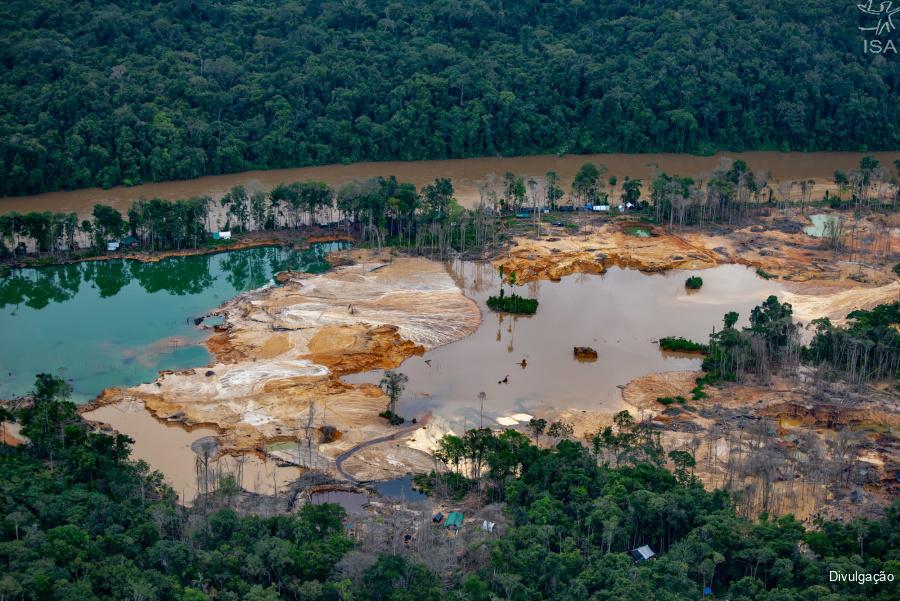 Garimpo ilegal na Terra Yanomami Foto: Divulgação/ISA