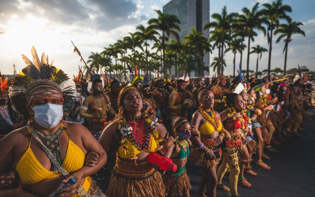Mulheres indígenas realizam marcha em Brasília entre 7 e 11 de setembro. (foto: Cicero Bezerra / Apib)
