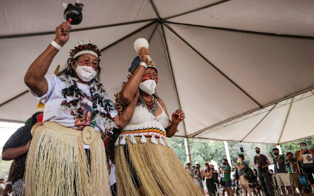 Mulheres indígenas participam de atividades da II Marcha das Mulheres Indígenas  em Brasília (DF) Foto: @webertdacruz @retratacaocoletivo